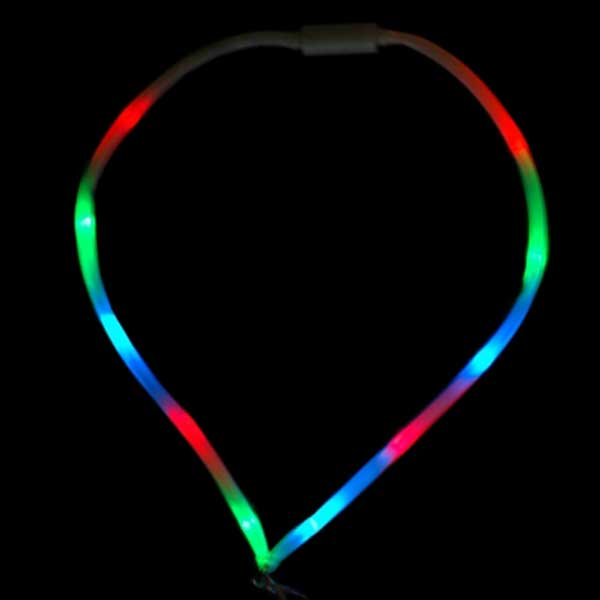 LED Color Flashing Lanyard with Snap Hook