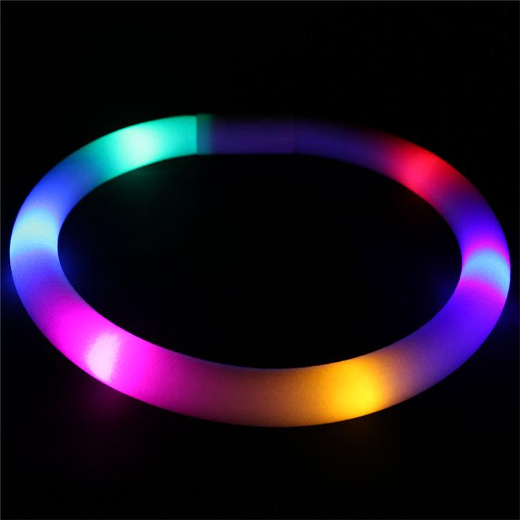 Multicolor LED Flashing White Foam Necklace, Expandable