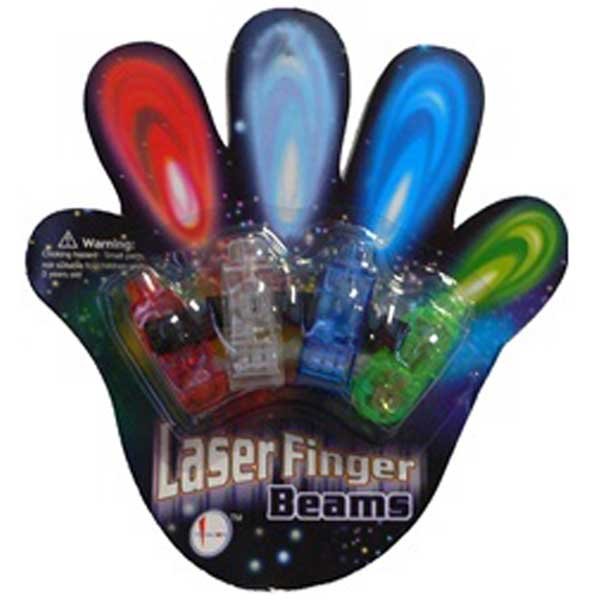Finger Beams LED Ring Flashlights, Lot of 480 Cards, 4 lights per card, (1 case)