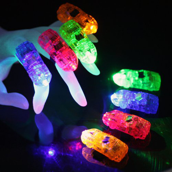 Car FingerBeams Ring Lights - 4 pack, assorted colors