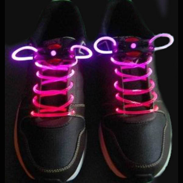 Flashing LED Fiber Optic Shoelaces