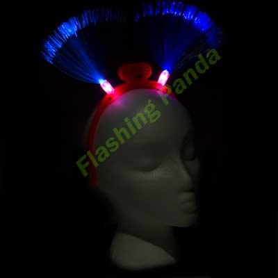 Party Pack of 12 Fiber-optic LED Flashing Headbands