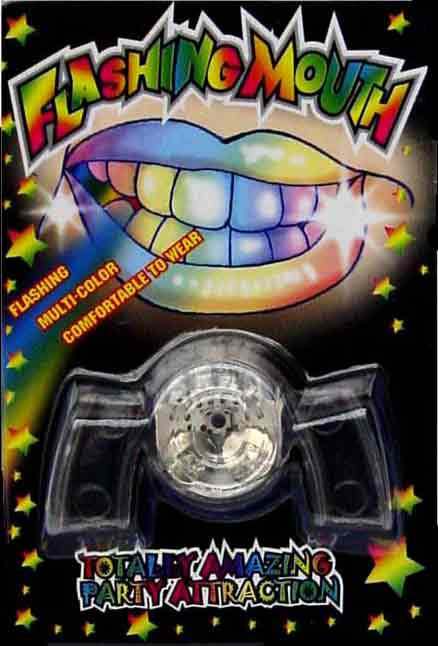 Flashing Teeth LED Light Up Blinking Mouthpiece, Multicolor