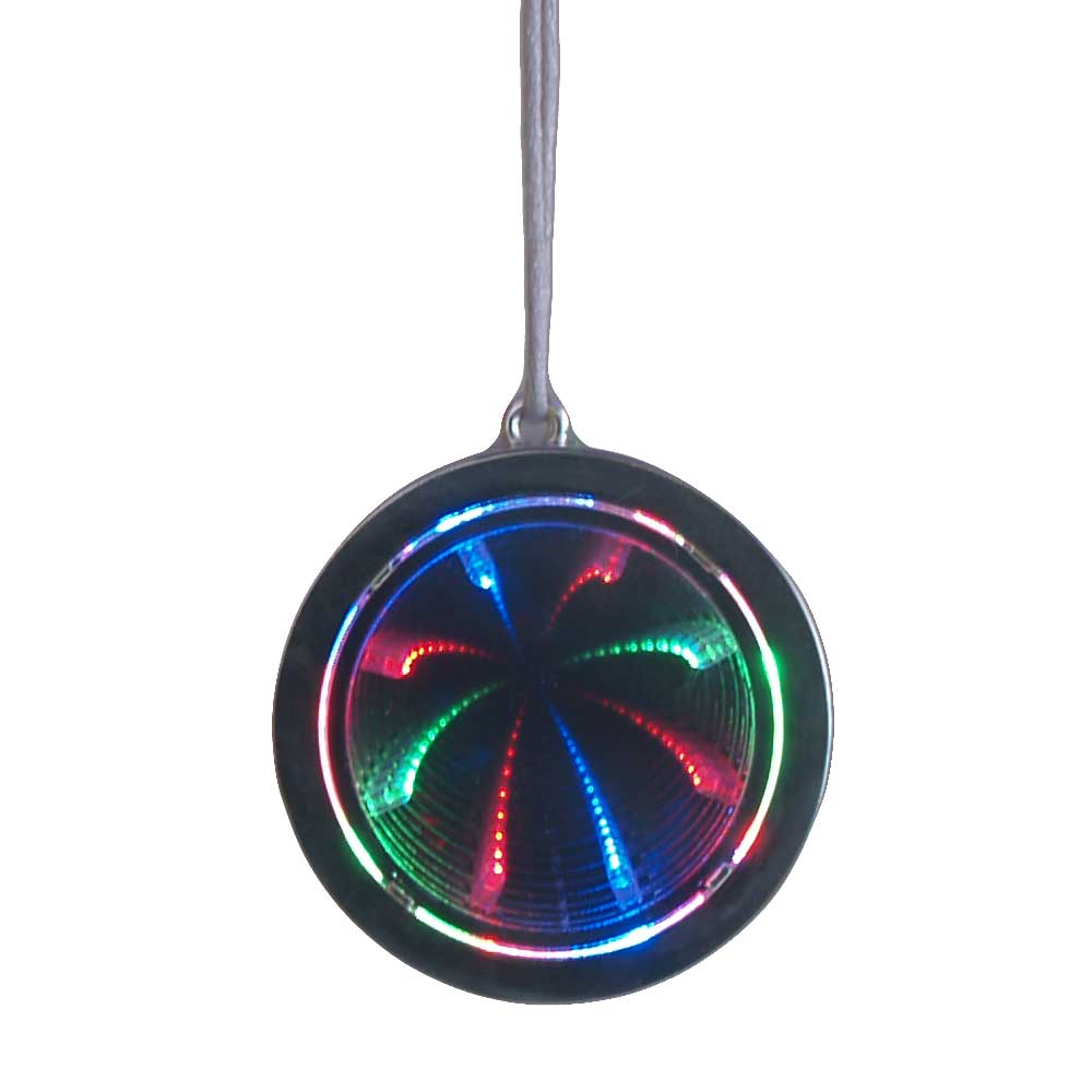 LED Flashing Tunnel Infinity Pendant Necklace