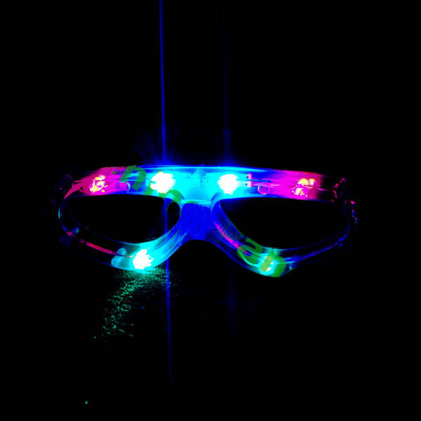 Full Frame LED Flashing Sun Glasses, Child-Size, Assorted Colors