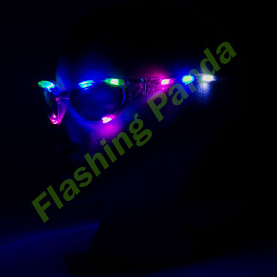 LED Flashing Sunglasses, Full Frame, One Pair
