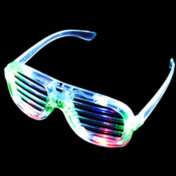 LED Flashing Sunglasses, Shutter - Lensless, One pair
