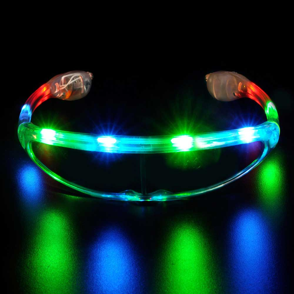 LED Flashing Sunglasses, Spaceman (Star Trek style), one pair