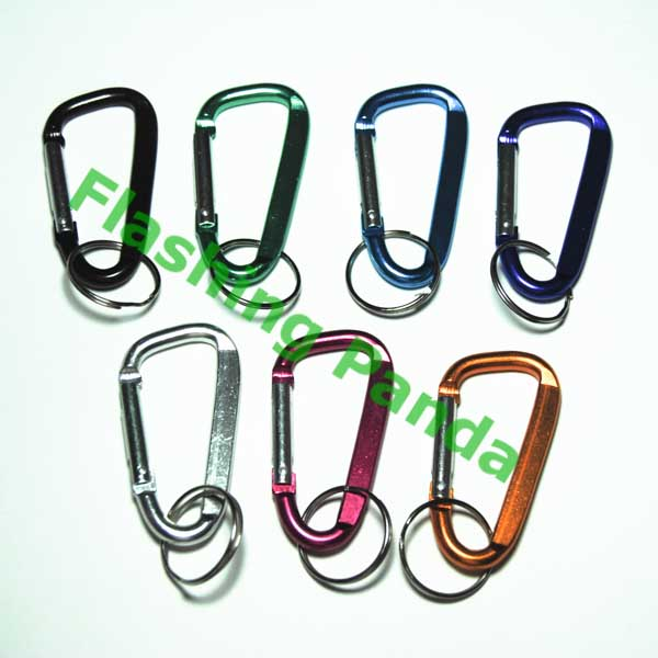 Carabiner Keychain Pack of 3 Assorted Colors